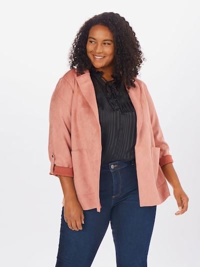 Zizzi Jacke in rosa, Modelansicht