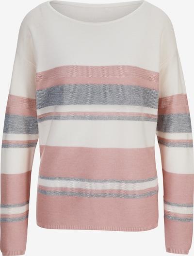heine Pullover in creme / grau / rosa, Produktansicht