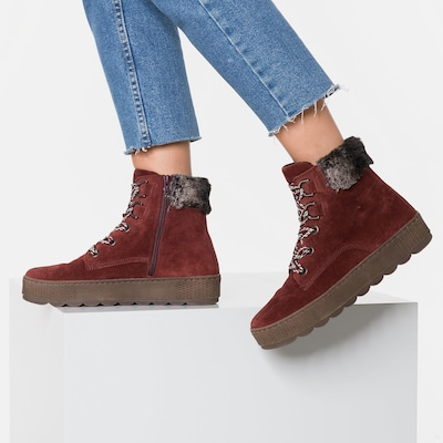 GABOR Ankle Boots in rot: Frontalansicht