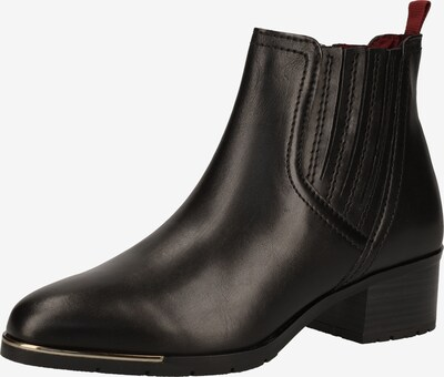 MARCO TOZZI Stiefelette in schwarz: Frontalansicht