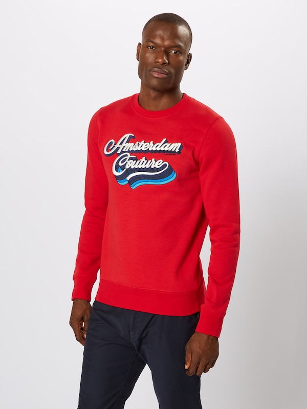 SCOTCH & SODA Sweatshirt in rot: Frontalansicht