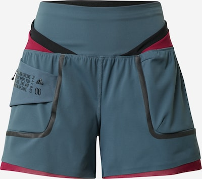 ADIDAS PERFORMANCE Shorts in petrol / rot, Produktansicht