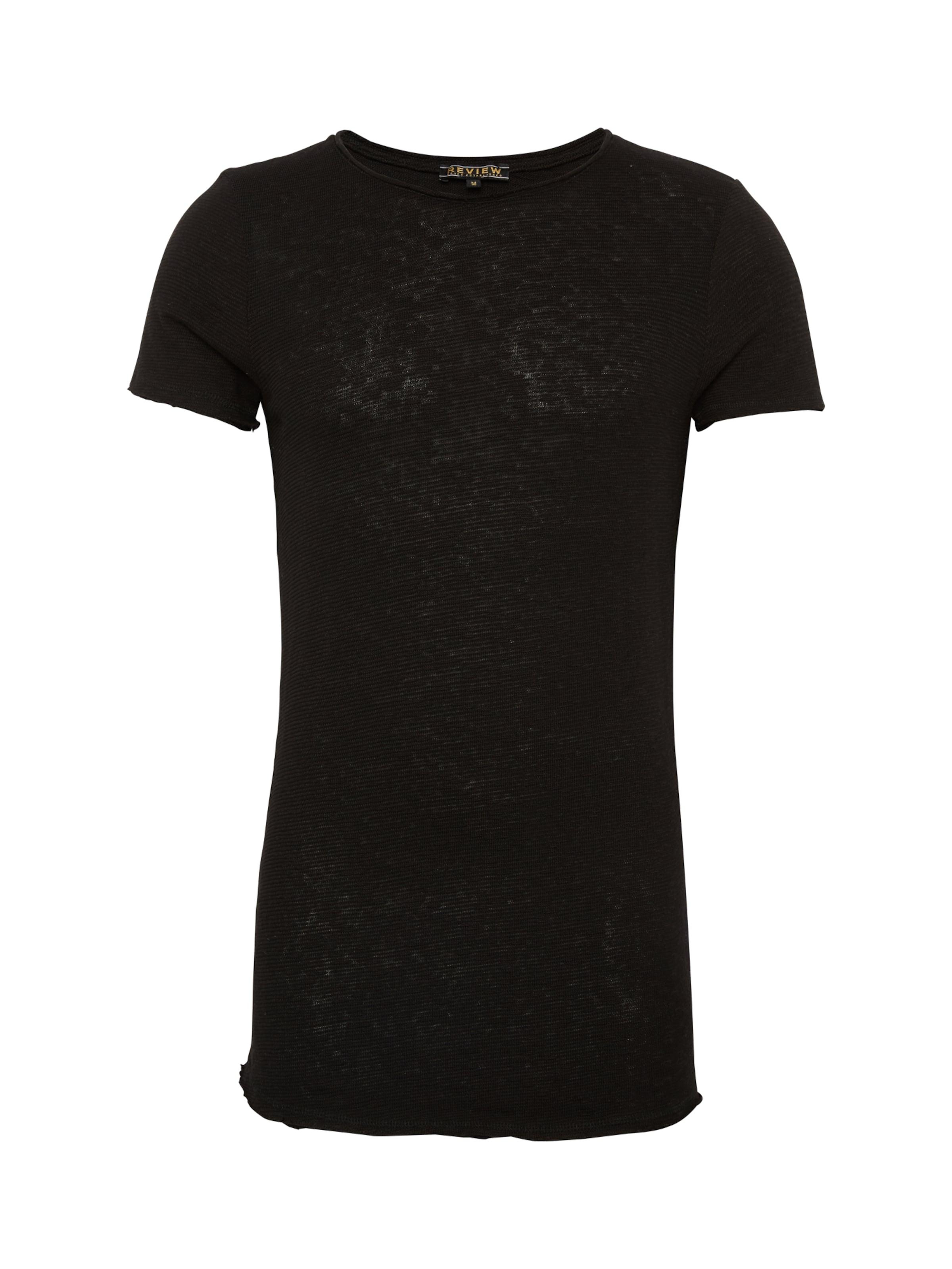 Review Tee' 'yarndyedslub In Schwarz Shirt oexWrdCB