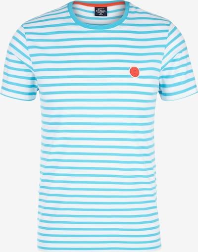 s.Oliver Shirt in hellblau / rot / weiß: Frontalansicht