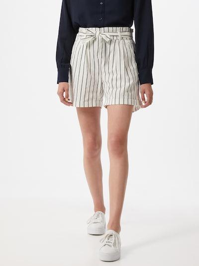 Eight2Nine Spodnie 'Paperbag' w kolorze ciemny niebieski / białym: Widok z przodu