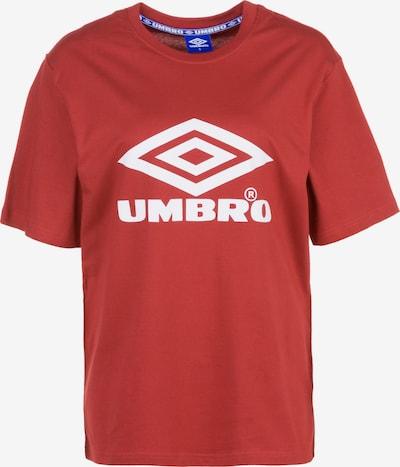 UMBRO Shirt in de kleur Rood / Wit, Productweergave