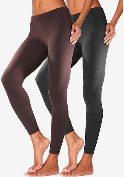 VIVANCE Leggings in braun / schwarz, Modelansicht