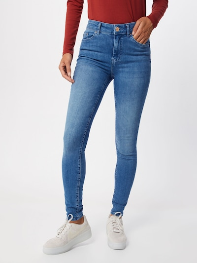 PIECES Jeans 'PCDELLY SKN MW LB124-BA/NOOS' in blue denim, Modelansicht