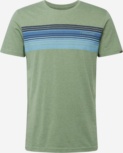 Ragwear Shirt 'HAKE' in blau / oliv: Frontalansicht