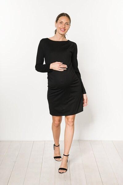 Bebefield Umstandskleid 'Mathilda' in schwarz, Modelansicht