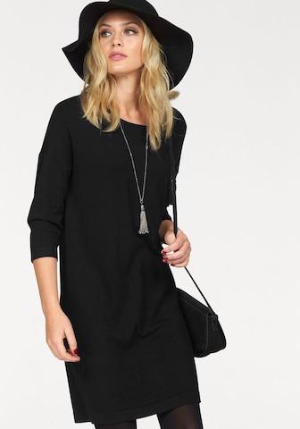 VERO MODA Gebreide jurk 'Glory Vipe Aura' in Zwart