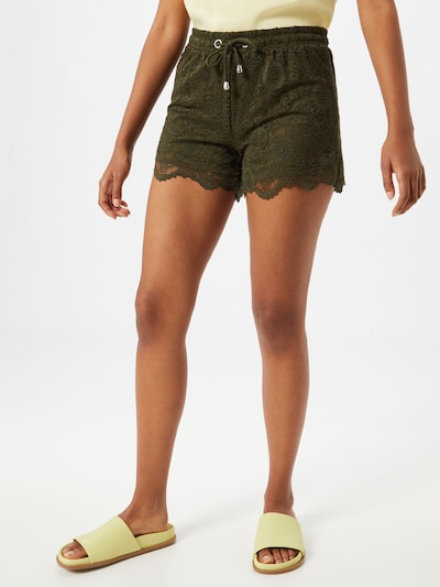 ABOUT YOU Shorts 'Sandra' in khaki, Modelansicht