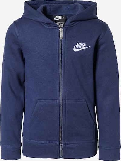 Nike Sportswear Sweatjacke 'Club' in navy / weiß, Produktansicht