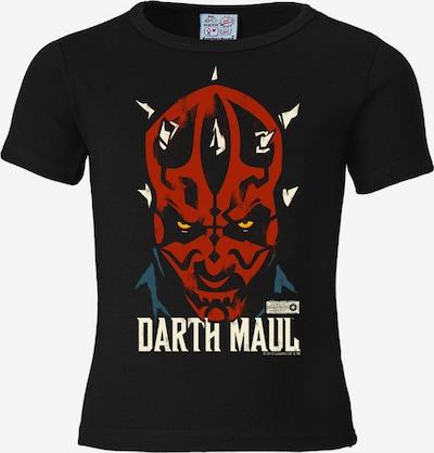"LOGOSHIRT T-Shirt ""Darth Maul"" in blau / rot / schwarz, Produktansicht"