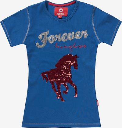 RED HORSE T-Shirt in blau / rot / silber, Produktansicht