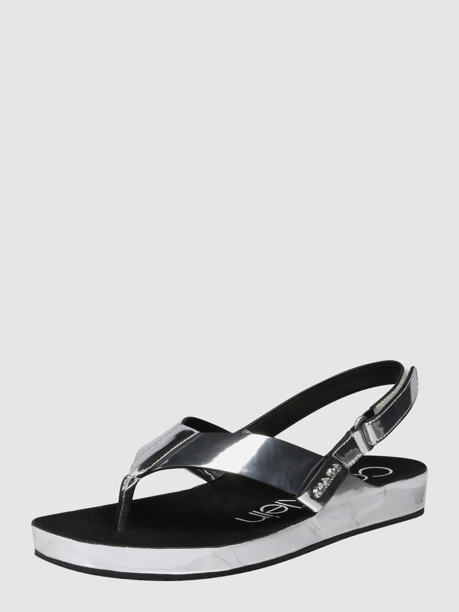 calvin klein sandalen 39 manira 39 in silber about you. Black Bedroom Furniture Sets. Home Design Ideas