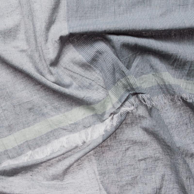 CODELLO Schal mit Nadelstreifen