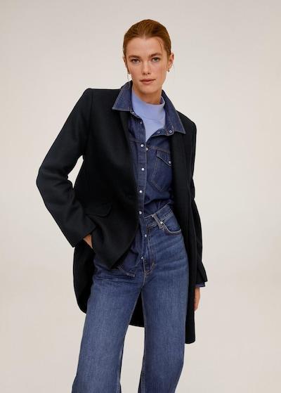 MANGO Mantel 'Streep' in navy, Modelansicht