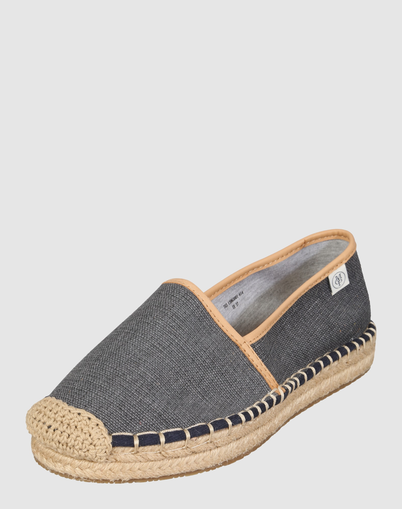 marc o 39 polo espadrilles mit lederdetails in blau about you. Black Bedroom Furniture Sets. Home Design Ideas