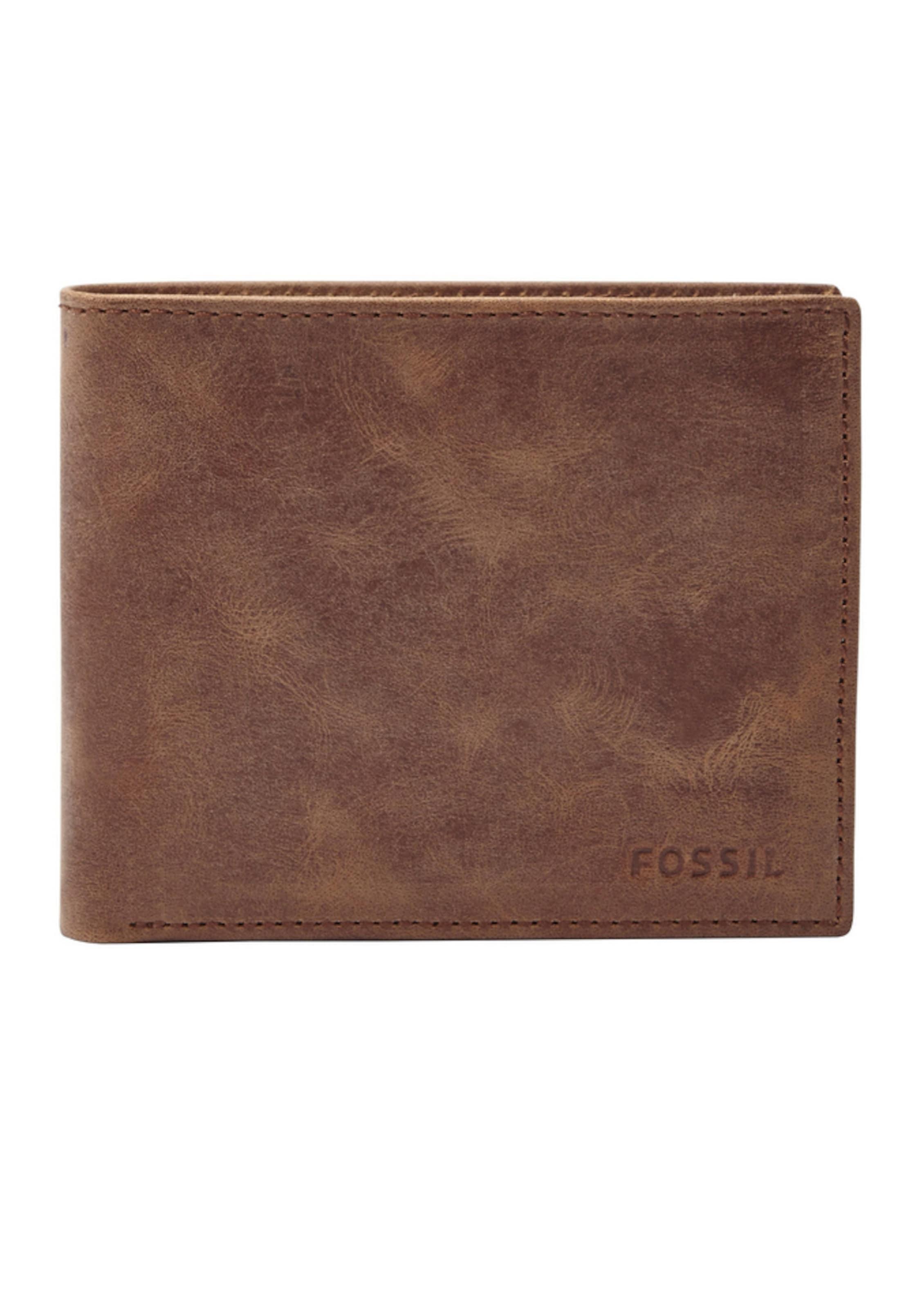 FOSSIL Geldbörse aus Leder im praktischen Format Billige Truhe Bilder O4btiWb