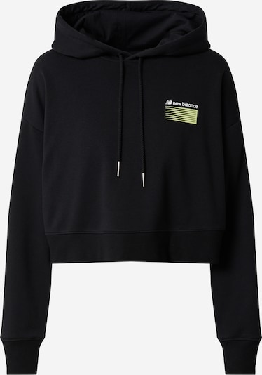 new balance Sweat-shirt en noir, Vue avec produit