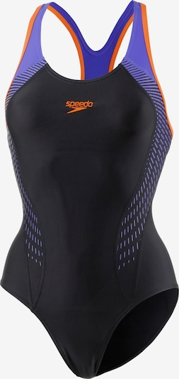 SPEEDO Schwimmanzug in lila / dunkelorange / schwarz, Produktansicht