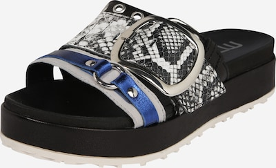 MJUS Šľapky - modré / sivá / čierna, Produkt