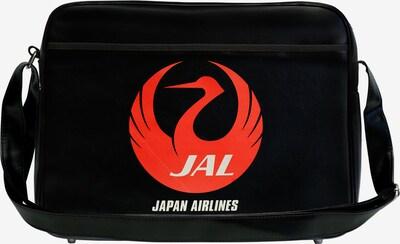 LOGOSHIRT Tasche 'Japan Airlines' in rot / schwarz, Produktansicht