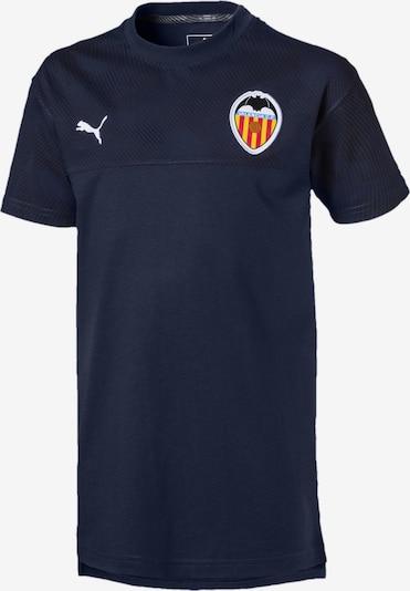 PUMA T-Shirt 'Valencia CF' in dunkelblau / gelb / weiß, Produktansicht