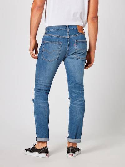 LEVI'S Jeans '501SLIMTAPER' in blue denim: Rückansicht