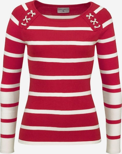 Tom Tailor Polo Team Streifenpullover in rot / weiß, Produktansicht