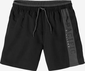 s.Oliver Board Shorts in Black