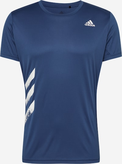 ADIDAS PERFORMANCE T-Shirt fonctionnel 'Run It 3-Stripes' en bleu, Vue avec produit