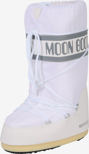 MOON BOOT Snow boots 'Nylon' in grey / white, Item view