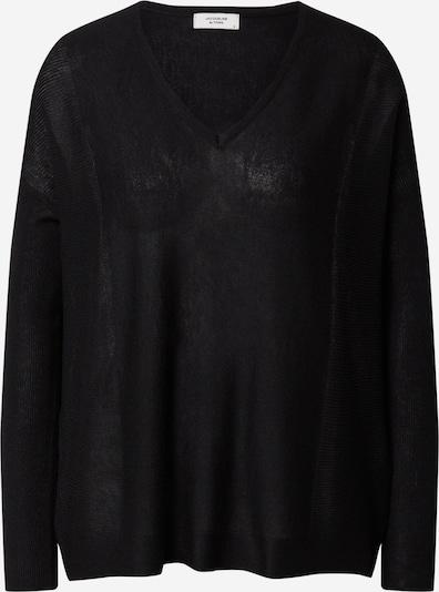 JACQUELINE de YONG Sweter 'New Druna' w kolorze czarnym: Widok z przodu