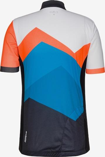 CMP Fahrradtrikot 'T-Shirt Bike' in blau / orange / weiß, Produktansicht