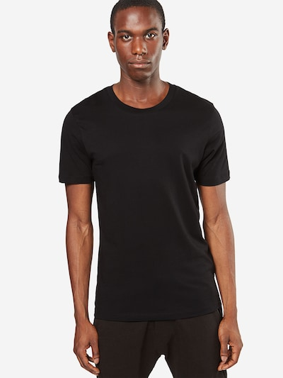 SELECTED HOMME T-Shirt 'SHDTHEPERFECT SS O-NECK TEE NOOS' in schwarz: Frontalansicht