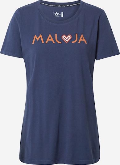 Maloja Koszulka funkcyjna 'GatschiM.' w kolorze ciemny niebieski / pomarańczowym, Podgląd produktu