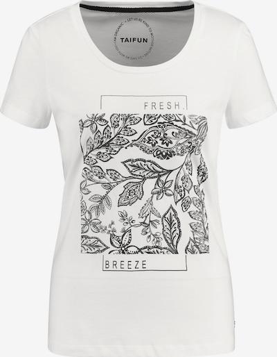 TAIFUN T-Shirt in schwarz / weiß, Produktansicht