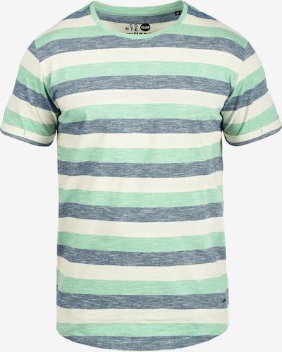 !Solid Rundhalsshirt 'Thicco' in beige / mint, Produktansicht
