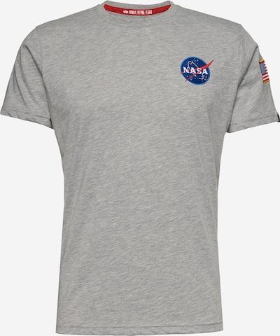 ALPHA INDUSTRIES Shirt 'Space Shuttle T' in de kleur Grijs gemêleerd: Vooraanzicht