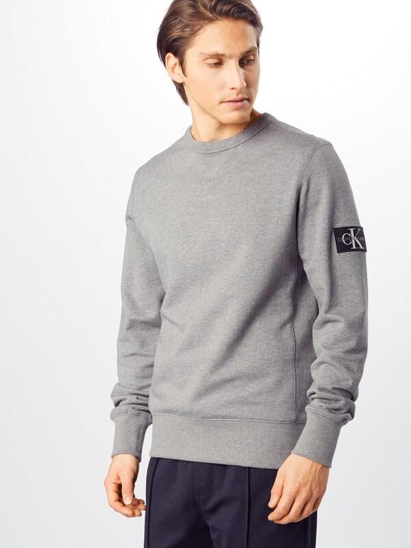 Calvin Klein Jeans Tréning póló 'MONOGRAM SLEEVE BADGE CN