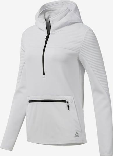 Reebok Sport Kapuzenpullover in schwarz / weiß, Produktansicht