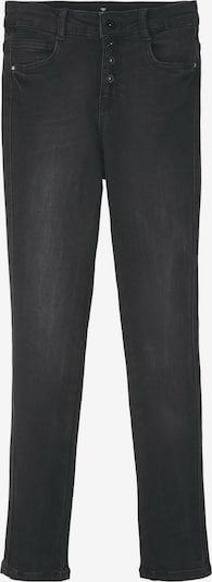 TOM TAILOR Jeanshosen Linly Straight Jeans mit Knopfverschluss in schwarz, Produktansicht