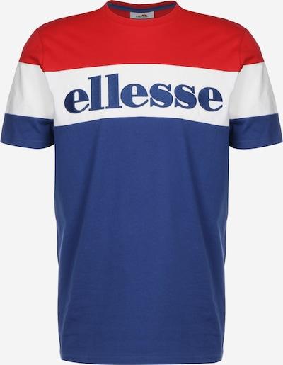 ELLESSE T-Shirt 'Punto' in blau / rot / weiß, Produktansicht