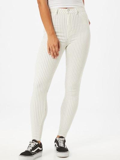 Tally Weijl Jeansy w kolorze czarny / naturalna bielm, Podgląd na modelu(-ce)