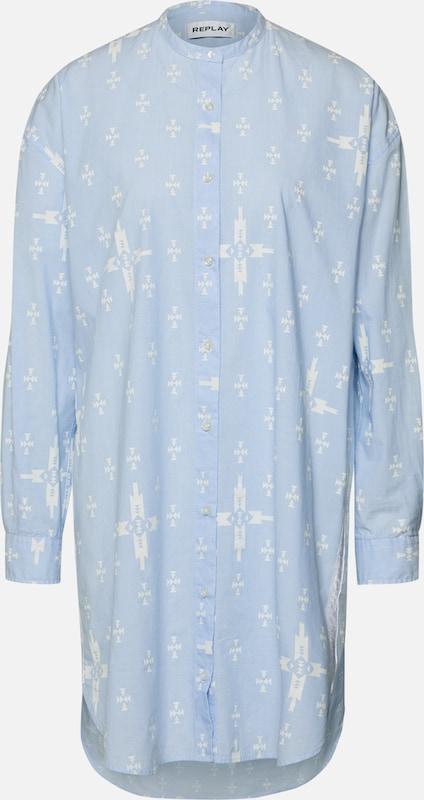 'kleid' Bleu Clair chemise Robe Replay En VpUqSMLzG