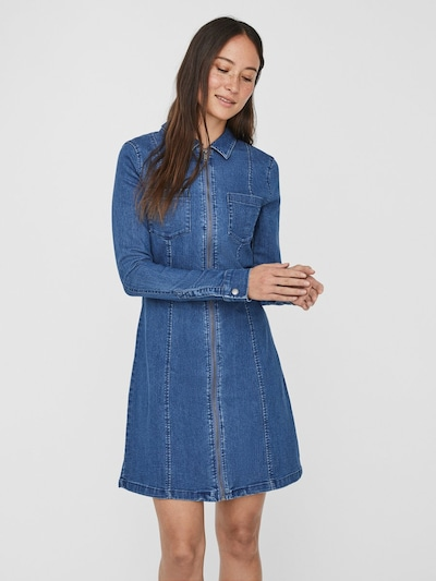 Noisy may Kleid in blue denim, Modelansicht