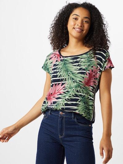 ZABAIONE Shirt 'Tracy' in navy / grün / pink / weiß: Frontalansicht