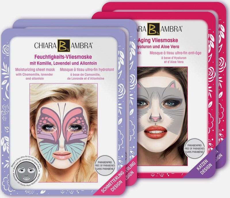 CHIARA AMBRA 'Vliesmasken mit Tierdesign' Gesichtspflege-Set (4-tlg.)
